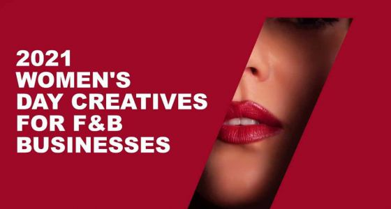 International Women's Day creatives for F&B Businesses